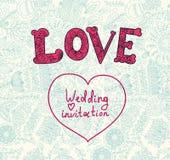 Invitación de la boda. Modelo de flor Fotos de archivo