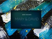 Invitación de la boda o diseño de tarjeta en backgroun abstracto de la pintura libre illustration