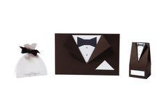 Invitación de la boda y rectángulo de regalo Fotografía de archivo libre de regalías