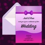 Invitación de la boda y sobre beautuful Fotos de archivo
