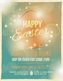 Invitación de la caza del huevo de Pascua Fotos de archivo libres de regalías