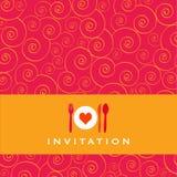 Invitación de la cena stock de ilustración
