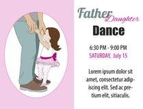 Invitación de la danza de la hija del papá, cartel Vector ilustración del vector
