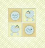 Invitación de la ducha de bebé Fotos de archivo libres de regalías