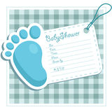 Invitación de la ducha de bebé Foto de archivo libre de regalías