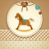 Invitación de la ducha de bebé stock de ilustración