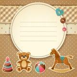 Invitación de la fiesta de bienvenida al bebé Imagen de archivo libre de regalías
