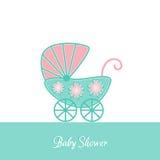 Invitación de la fiesta de bienvenida al bebé Foto de archivo