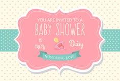 Invitación de la fiesta de bienvenida al bebé Imagenes de archivo