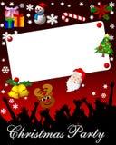 Invitación de la fiesta de Navidad Foto de archivo libre de regalías