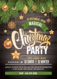 Invitación de la fiesta de Navidad stock de ilustración