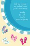 Invitación de la fiesta en la piscina Fotos de archivo libres de regalías
