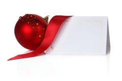 Invitación de la Navidad Imagen de archivo libre de regalías