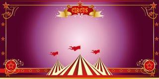 Invitación de la púrpura del circo Imagenes de archivo