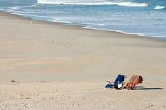 Invitación de la playa Foto de archivo libre de regalías