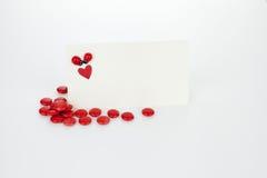 Invitación de la tarjeta del día de San Valentín fotos de archivo libres de regalías
