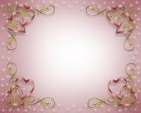Invitación de la tarjeta del día de San Valentín o de boda Foto de archivo
