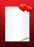 Invitación de la tarjeta del día de San Valentín o de la boda Foto de archivo