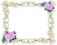 Invitación de la tarjeta del día de San Valentín o de la boda Foto de archivo libre de regalías