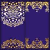 Invitación de la violeta del vintage Imágenes de archivo libres de regalías