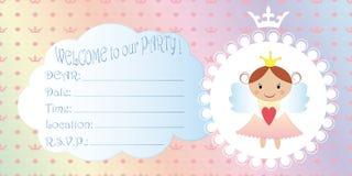 Invitación de los niños s Princesa Birthday Party Invitation ilustración del vector