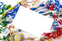 Invitación de Noche Vieja o de la fiesta de cumpleaños imagen de archivo