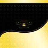 Invitación de oro Imagen de archivo libre de regalías