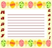 Invitación de Pascua Fotos de archivo libres de regalías