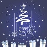 Invitación del Año Nuevo Ilustración del Vector