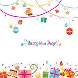 Invitación del Año Nuevo Fotos de archivo libres de regalías