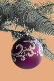 Invitación del Año Nuevo Bola de la Navidad Fotografía de archivo