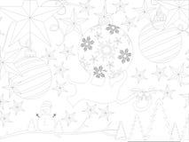 Invitación del Año Nuevo Extracto asociación ilustración del vector