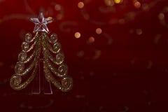 Invitación del Año Nuevo Imagen de la Navidad con una raspa de arenque del juguete Imagenes de archivo