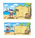 Invitación del bautismo del pirata Imagen de archivo