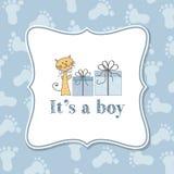Invitación del bebé para la fiesta de bienvenida al bebé Fotografía de archivo libre de regalías