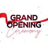 Invitación del concepto del cartel de la ceremonia de gran inauguración Plantilla del partido de la decoración del acontecimiento libre illustration