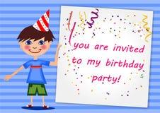Invitación del cumpleaños Fotografía de archivo libre de regalías