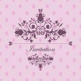 Invitación del diseño en rosa Foto de archivo libre de regalías