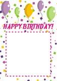 Invitación del feliz cumpleaños Foto de archivo libre de regalías