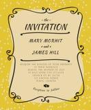 Invitación del garabato Foto de archivo libre de regalías