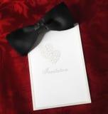 Invitación del lazo negro Imágenes de archivo libres de regalías