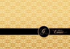 Invitación del modelo del damasco foto de archivo libre de regalías