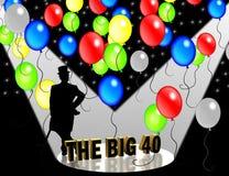 invitación del partido 40thBirthday   Foto de archivo libre de regalías