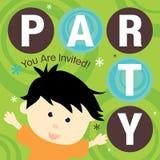 Invitación del partido Foto de archivo libre de regalías