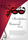 Invitación del partido de Carnaval Imagenes de archivo