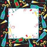 Invitación del partido de Champán Fotografía de archivo libre de regalías