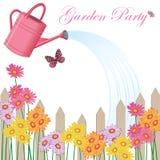 Invitación del partido de jardín Foto de archivo libre de regalías