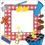 Invitación del partido de la comida campestre del verano ilustración del vector