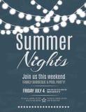 Invitación del partido de la noche de verano Imagen de archivo