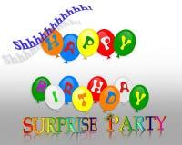Invitación del partido de sorpresa del cumpleaños Imágenes de archivo libres de regalías